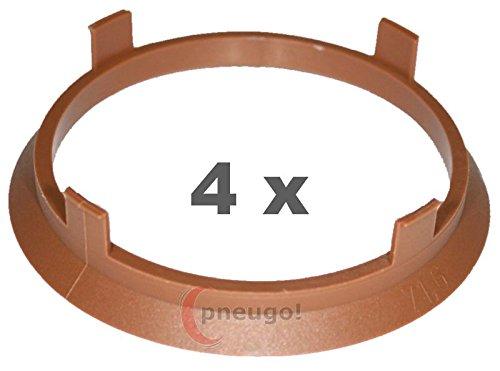 Int 66.1 compatible Nissan 4 Bagues de centrage ADNAuto Ext 73-73.1