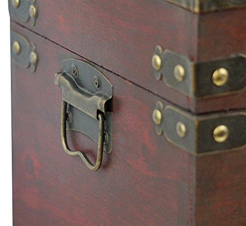 Thunderdog New York - Piraten-Schatztruhe mit Schloss 50x25x28cm Schatzkiste Holz-Truhe -