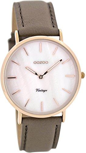 Oozoo Damen Digital Quarz Uhr mit Leder Armband C8123