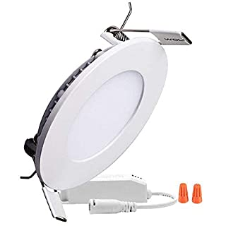 H&G Lighting 12W Rund LED Panel Leuchte, Einbauleuchte,Dimmbar,warmweiß, 3000K,Schnitt Loch 6.1 Inches, LED Panellampe,Deckenleuchte,mit 230V Treiber (3000K warmweiß)