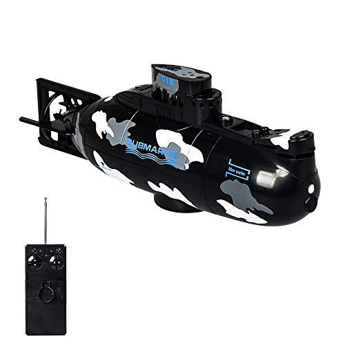 MOGOI RC Bateau RC Jouet sous-Marin 6 canaux 40 MHz Mini Jouet de sous-Marin électrique Rechargeable avec télécommande Bateau sous-Marin Bateau de plongée dans l'eau pour garçons Filles