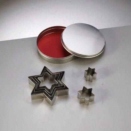 Emporte-pièces en inox, 7 Etoiles, de 2,5 cm à 8 cm