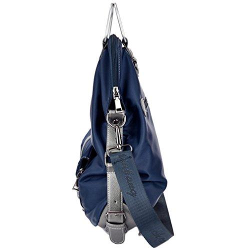 In Nylon Impermeabile del Messaggero Sacchi Per Cadaveri Trasversali Borse a Tracolla Casual Multifunzionale Borsa a Tracolla Delle Donne (Porpora) Blu