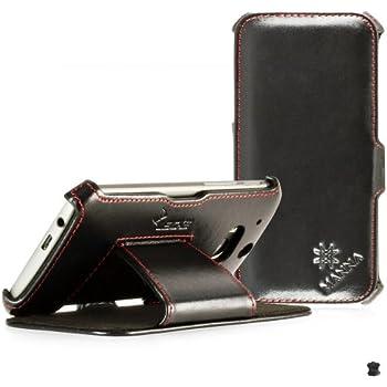 MANNA   Étui pochette housse de protection luxe pour HTC One M8 EN CUIR VÉRITABLE* très élégant   CUIR de NAPPA 'Meerana'   Avec la fonction de mise en place (idéal pour la lecture de vidéos et textes)   Case Cover