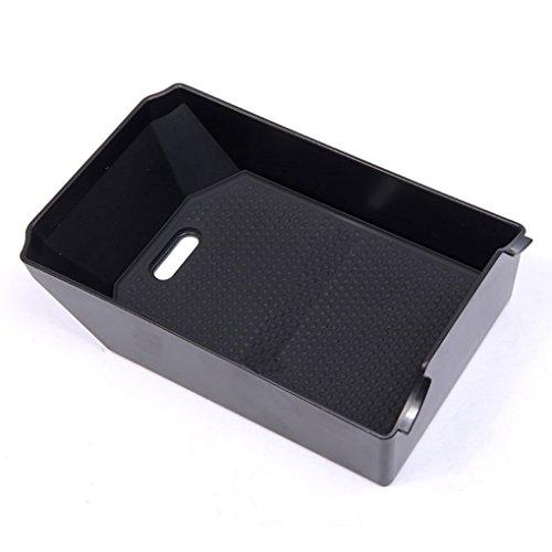 Auto Zubehör Handschuh Armlehne Aufbewahrungsbox Tablett mit Matte Schwarz 1Stück
