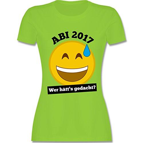 Abi & Abschluss - Abi 2017 - Wer hätt's gedacht? - tailliertes Premium T-Shirt mit Rundhalsausschnitt für Damen Hellgrün
