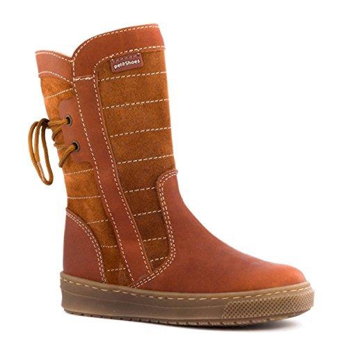Boni Classic Shoes, Mädchen Stiefel & Stiefeletten Wildleder Marone