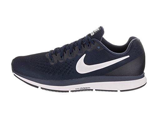 Nike Pantaloncini da uomo in jersey, Nero, L Blu (Obsidian/White/Neutral Indigo/Blue Recall/Black)