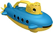 Green Toys Submarine in Yellow & blue - BPA Free, Phthalate Free, Bath Toy with Spinning Rear Propeller. S