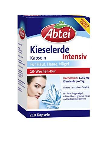 Abtei Kieselerde Intensiv Kapseln, 210 Stück, hochdosiert, 10 Wochen Kur, feste Nägel, schöne...