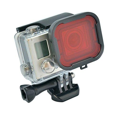 Filtro Rojo, Cubierta / Tapa para proteger la lente, compatible con GoPro Hero 4 / 3+. Ideal para filmación o fotografía bajo el agua. FABRICADO POR MADRID GADGET STORE. SOMOS EMPRESA ESPAÑOLA. ¡Todos los artículos comprados en Madrid Gadget Store ga...