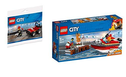 Steinchenwelt Lego® City 2er Set: 30361 Feuerwehr-Buggy + 60213 Feuerwehr am Hafen -