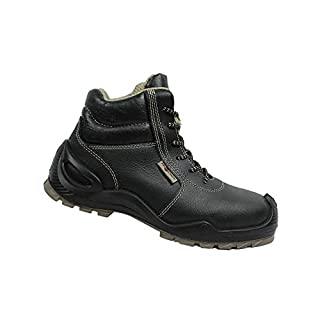 Aimont Fortis S3 SRC Safety Shoes Work Shoes Professional Shoes Business Shoes Trekking Shoes Black, Size:36 EU