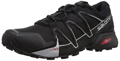 Salomon Speedcross Vario 2 Zapatillas de Running y Trail Running Hombre, Negro (Black/Black/Silver Metallic, 47.1/3 EU (12 UK)