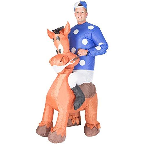 Halloween Reit Kostüme Tier (Aufblasbarer Jockey Erwachsenenkostüm)