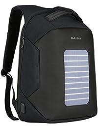 9a7bac040c BAO Ordinateur Portable Sac à Dos 16 Pouce Energie Solaire Charge Paquet  Loisirs Voyager Épaules Étudiant