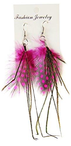 Seiler24 Feder Ohrringe Indianer (Krieger Kostüme Indianer)