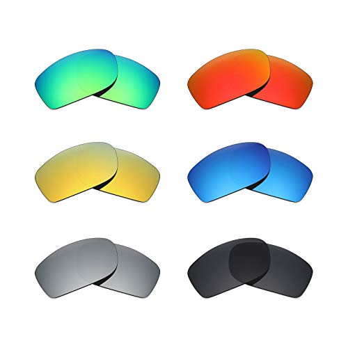 MRY 6Paar Polarisierte Ersatz Gläser für Oakley Fives Squared Sonnenbrille