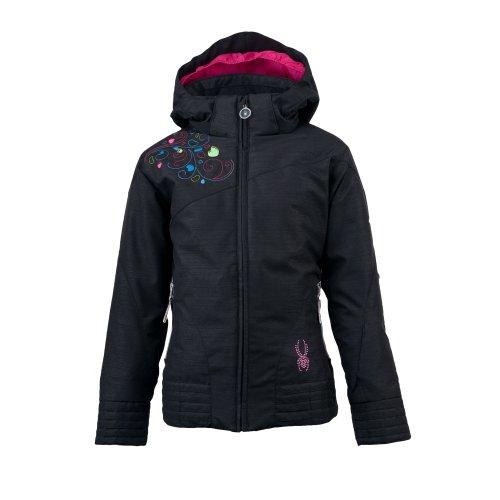Spyder Girl 's Glam Jacke, Mädchen, Black Sparkle (Spyder Ski-jacke Für Mädchen)
