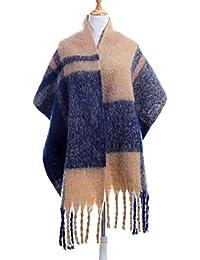Écharpe Femme Hiver Châle Plaid XXL Chaude Longue Grande à Carreaux avec  Frange Elégant Multicolore 6c8d5c50f1ab