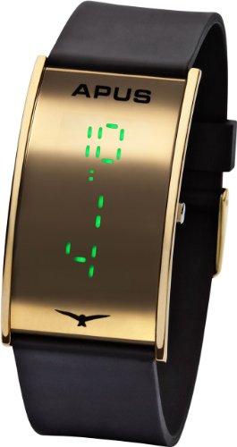 APUS Gamma Gold Green AS-GA-GG LED Uhr Design Highlight (Led Gold-highlights)