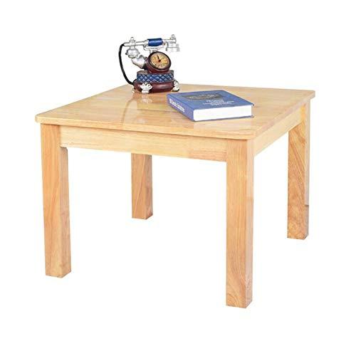 CJC Tables, Bois Massif Deluxe Bois Franc Joue Enfants Salle De Jeux Garderie Préscolaire, Carré, Naturel Finition (Couleur : Wooden color, taille : 60x40x45cm)