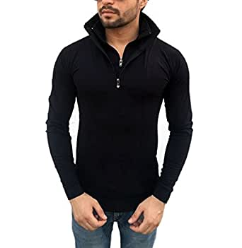 tees collection Men's Cotton Full Sleeve Full Sleeve T-Shirt (Tcdzf001/S -Black -Small)