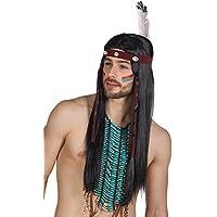 """Perücke """"Indianer-Kopfschmuck"""" mit Stirnband und Feder"""