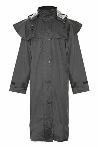 Champion Sandringham Manteau Long Imperméable avec Capuche Amovible Femme Noir - Noir