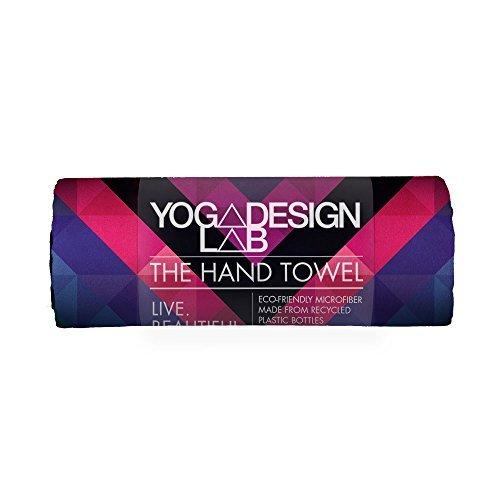 Yoga Design Lab Yoga Handtuch Ökologisches Material| Leichtes, saugfähiges Hand- und Gesichtstuch für Dein schweißtreibendes Training| Waschmaschinenfest, schnelltrocknend (Chevron Maya)