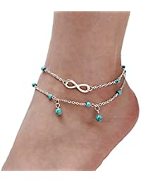 Shining Diva Fashion Silver Plated Anklet for Women (Silver)(9771a)