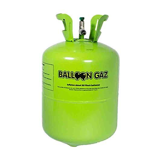 Top Ten Helium-Flasche für ca. 50 Luftballons Folienballons Ballongas 420 Liter (0,42 m³)