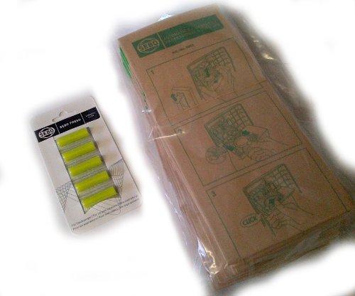 Echt Sebo x Series Papier-Staubsaugerbeutel, 10 x 5 x Original Sebo Air Freshener-für alle Sebo x1/x1.1, x4, x4pet, x4extra und mehr Disc Cleaner Kit
