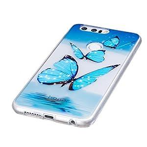 Huawei Case, BONROY® Huawei Fashion painting pattern Case Bumper Transparent Soft Gel Shockproof Case Resist Protection Shell for Huawei