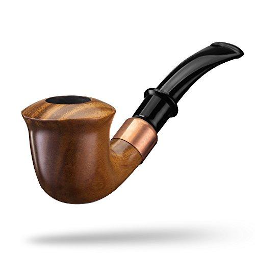 A.P. Donovan - Tabak-Pfeife klassisch handgemacht (auch für Einsteiger / Anfänger) aus Guajakholz - für 9mm Filter - Holz (Xaman Ek) (Tabak Pfeife Und Feuerzeug)
