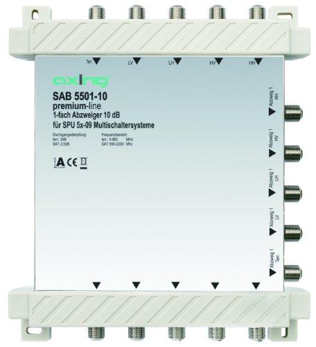 Axing SAB 5501-10 1-Fach Abzweiger (10 dB, 4x Sat / 1x terrestrisch)