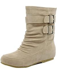 RAZAMAZA Mujer Chica Invierno dulce botas Plano Slouchy Boots