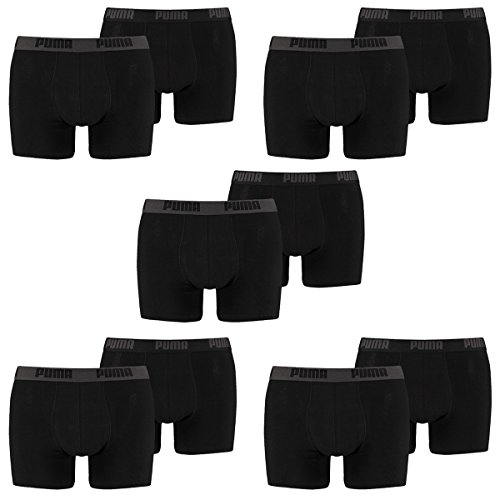 10 er Pack Puma Boxer shorts / Schwarz / Size XXL / Herren Unterhose