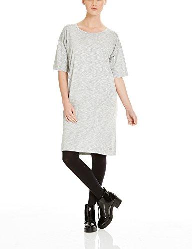 Bench Damen Kleid EXPERTISM, Mini, Gr. 36 (Herstellergröße: S), Grau (Mid Grey Marl GY001X)