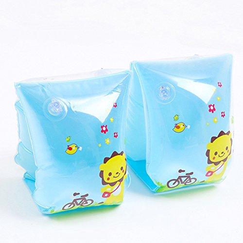 Preisvergleich Produktbild Kinderschwimm Arm Kreis , Chickwin 2pc/set PVC-Material Kinder Schwimmen Arm Kreis aufblasbare Pool Schwimmen Arm Ring Kreis. (Blau)