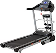 Skyland EM-1272 Unisex Adult Motorized Treadmill With Massager + Bluetooth Speaker - Black, L 180 cm x W 76 cm