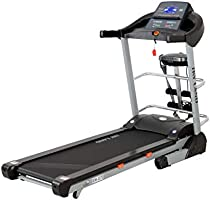 Skyland EM-1272 Unisex Adult Motorized Treadmill With Massager + Bluetooth Speaker - Black, L 180 cm x W 76 cm x H 135.5 cm