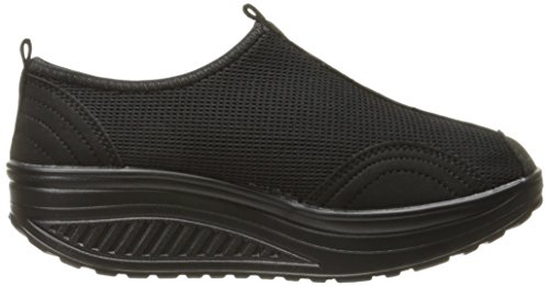 Mljsh  Platform Shoes,  Damen Durchgängies Plateau Sandalen Schwarz