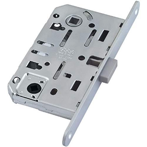 Plus Krücken (MAGNETISCHES Einsteckschloss für Tür-WC-Innenraum - Magnetverschluss - CHROM-Platte mit abgerundeten Enden)
