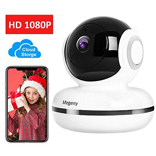 megeny WLAN IP Kamera 1080P Überwachungskamera mit Nachtsicht, Bewegungserkennung, Cloud Speicher, Zwei-Wege Audio, Fernalarm, Unterstützung iOS Android App, Home Indoor Kamera Baby Monitor