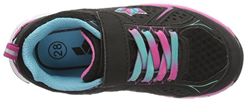 Lico Rainbow Vs, Baskets Basses Fille Noir (Schwarz/pink/tuerkis)