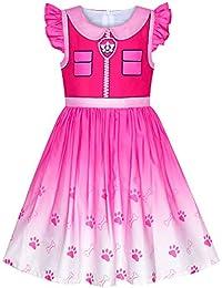 Sunboree Mädchen Kleid Pfote Patrol Marshall Kostüm Halloween Party Gr. 92-116