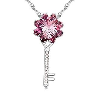 Daesar Schmuck Damenkette Vergoldet Schlüssel Halskette Zirkonia Strass Anhänger Halskette für Frauen