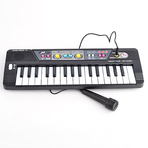 Electronic Keyboard Piano, Teckpeak 32 Key Electronic Keyboard Piano with Microphone Musical Toy for Children MS018