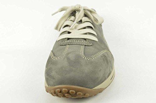 Gabor Confort Femme 46.385pour femme à lacets plats, Baskets, Sneakers Gris - Grafite